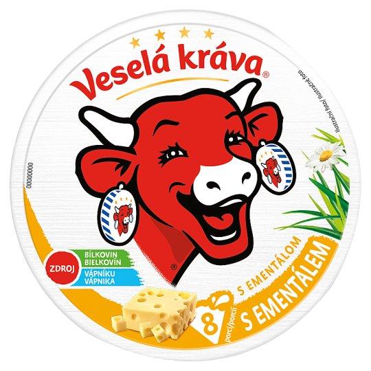 Veselá Kráva Tavený sýr s ementálem 8 ks 120g