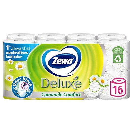 Zewa Deluxe Camomile Comfort Toilet Paper 16 Rolls