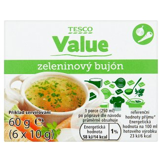 Tesco Value Vegetable Broth 6 x 10g