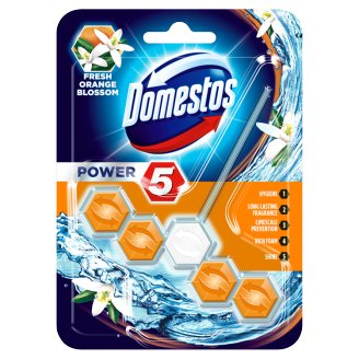 Domestos Power 5 Orange Blossom WC blok 55g