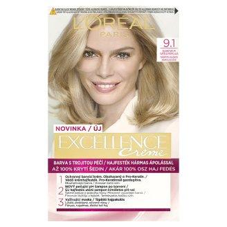 L'Oréal Paris Excellence Creme blond velmi světlá popelavá 9.1
