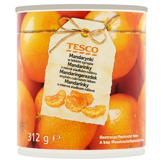 Tesco Mandarins in Mildly Sweet Brine 312g