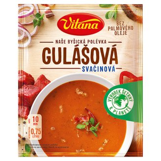 Vitana Gulášová svačinová polévka 96g