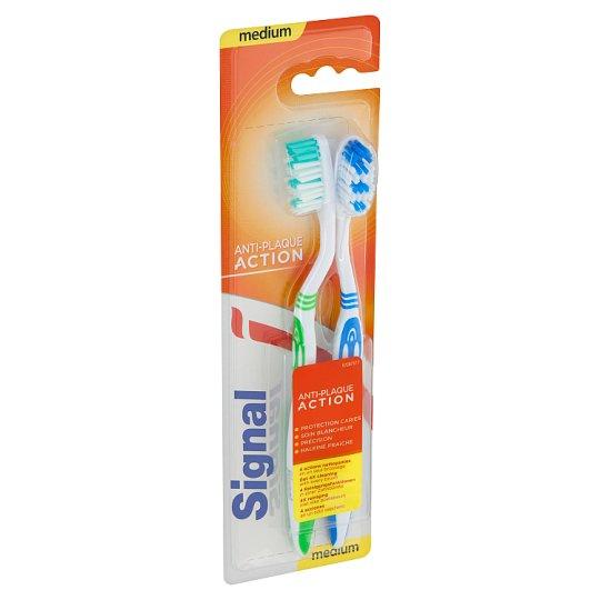 Signal AntiPlague Toothbrush Medium Hard 2 pcs