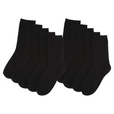 image 2 of F&F Basics Women's Basic Black Ankle Socks 10 Pieces in a Pack, M-L, Black