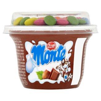 Zott Monte Mléčný dezert čokoládový s lískovými oříšky a kakaovým dražé 70g