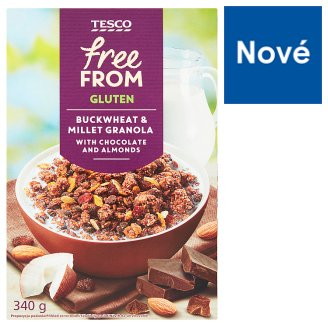Tesco Free From Muesli with Chocolate and Almonds 340g