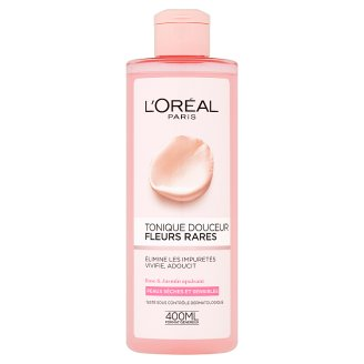 L'Oréal Paris Pleťová voda s výtažky vzácných květů pro suchou a citlivou pleť 400ml