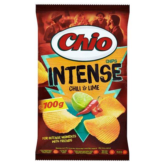 Chio Intense Smažené bramborové lupínky s příchutí chilli a limetky 100g