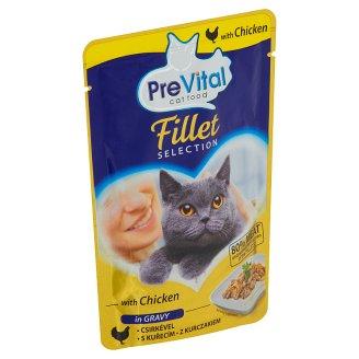 PreVital Kompletní krmivo pro dospělé kočky s kuřecím v omáčce 85g