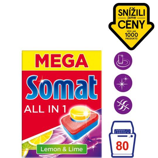 Somat All in 1 Lemon & Lime tablety do myčky na nádobí 80 tablet 1440g