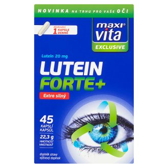 MaxiVita Exclusive Lutein forte+ extra silný 45 kapslí 22,3g