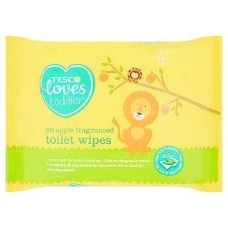 Tesco Loves Toddler Vlhčený toaletní papír 60 ks