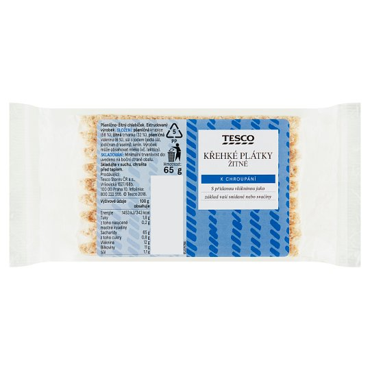 Tesco Fragile Rye Slices 65g