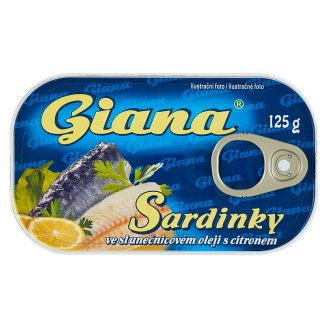 Giana Sardines in Sunflower Oil with Lemon 125g