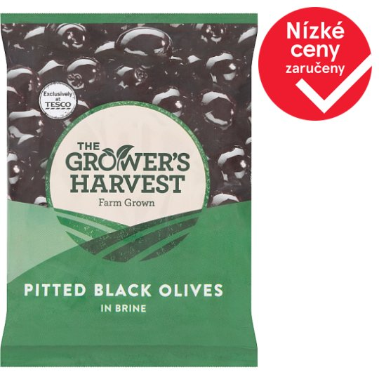 The Grower's Harvest Pitted Black Olives in Brine 200g