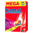 Somat All in 1 Lemon & Lime Dishwasher Tablets 84 pcs 1512g
