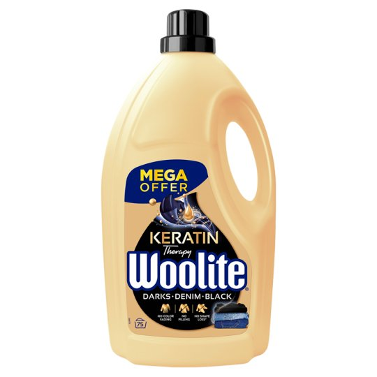 Woolite Darks, Black, Denim Liquid Detergent 75 Washes 4.5L