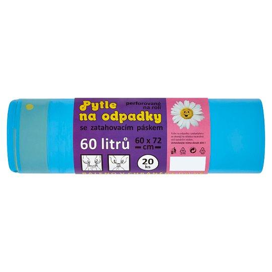 Select Pytle na odpadky se zatahovacím páskem 60l 60 x 72 cm 20 ks