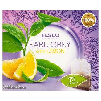 Tesco Earl Grey černý čaj s příchutí citronu 75 x 1,75g