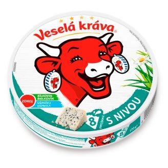 Veselá Kráva Tavený sýr s nivou 8 ks 120g