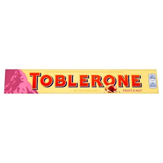 Toblerone Swiss Milk Chocolate with Raisins & Honey & Almond Nougat 100g