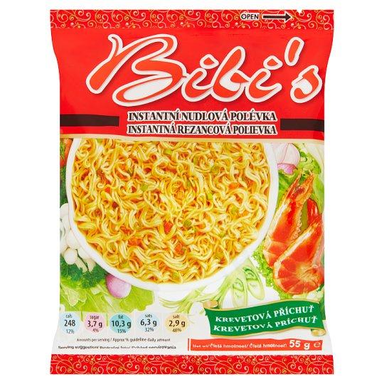 Bibi's Instant Noodle Soup Mix with Shrimp Flavour 55g