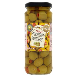 Tesco Green Olives Stuffed with Chilli Paste 340g
