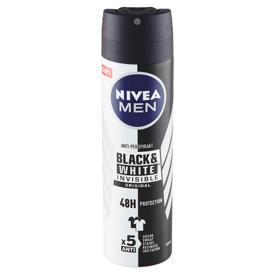 Nivea Men Invisible Black & White Original Sprej antiperspirant 150ml