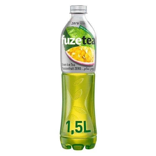 FuzeTea Passion Fruit Zero, zelený ledový čaj 1,5l