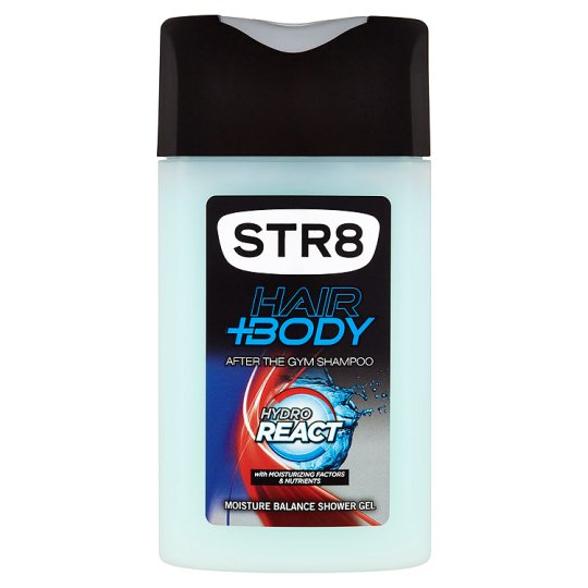 STR8 Hair+Body Hydro React shower gel 250ml