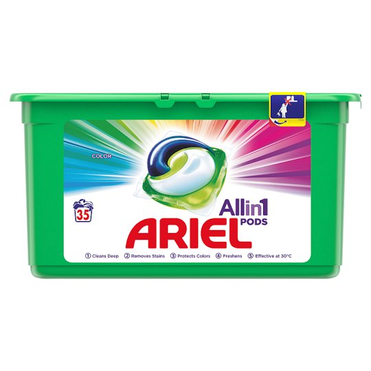 Ariel 3in1 Pods Color Washing Capsules 35 Washes