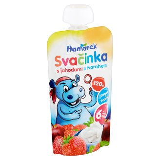 Hamánek Snack with Strawberries and Curd 120g