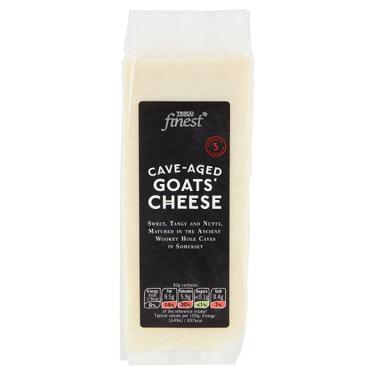 Tesco Finest Cave-Aged Goats' Cheese 190g