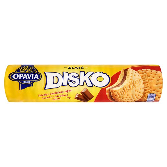 Opavia Zlaté Disko Cookies with Chocolate Filling 157g