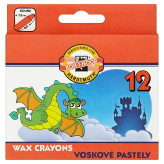 KOH-I-NOOR School Wax Crayons 12 pcs