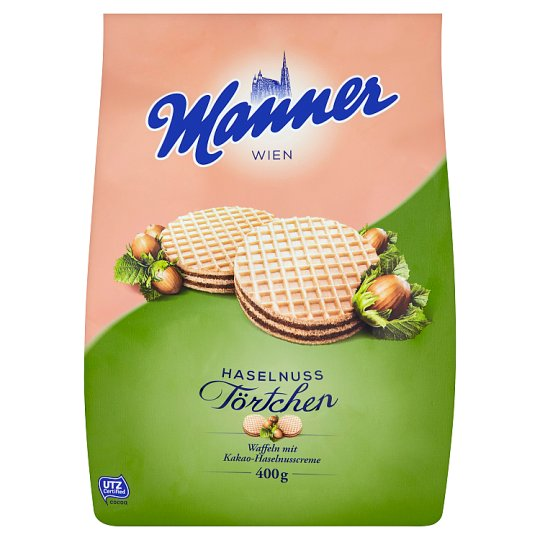 Manner Cocoa-Hazelnut Creme Filled Wafers 400g