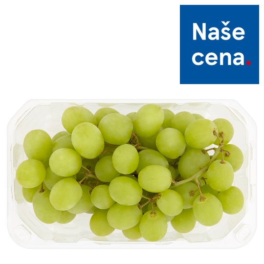 Tesco Packaged White Grapes 500g