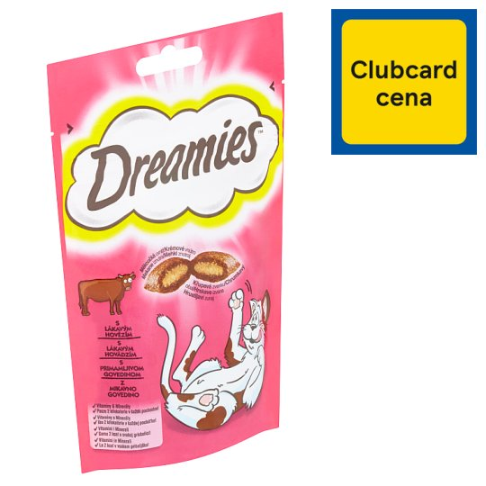 Dreamies S lákavým hovězím 60g