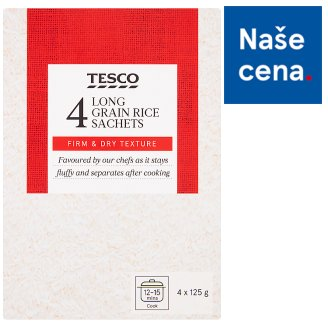 Tesco Long-Hulled Rice in the Boil Bags 4 x 125g