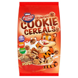 Breakfast King Cereals Flakes with Chocolate Flavored Biscuits 250g