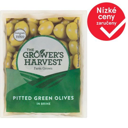 The Grower's Harvest Pitted Green Olives in Brine 195g