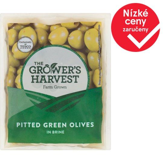 The Grower's Harvest Zelené vypeckované olivy ve slaném nálevu 195g