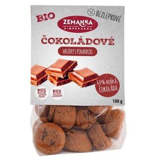 Biopekárna Zemanka Gluten-Free Organic Buckwheat Chocolate Biscuits 100g