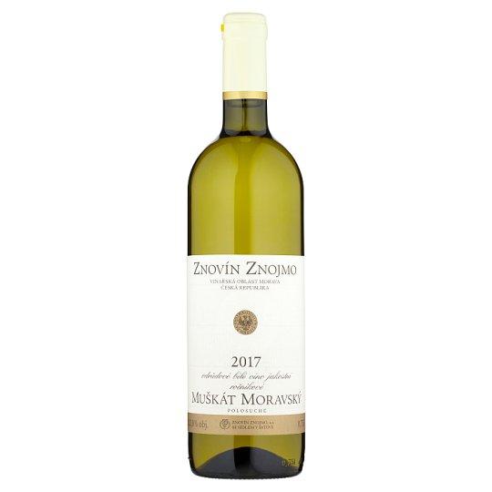 Znovín Znojmo Muscat Moravian Varietal Quality Demi Dry White Wine 0.75L