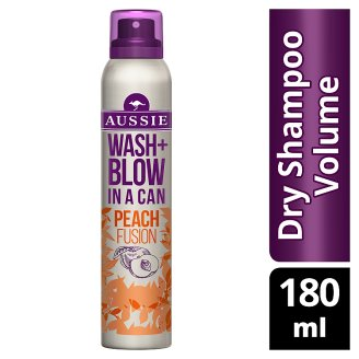 Aussie Wash + Blow Peach Fusion Dry Shampoo 180ML