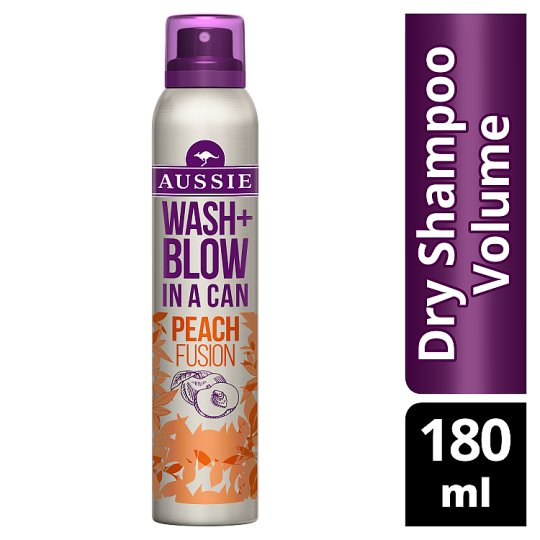 Aussie Wash + Blow Peach Fusion Dry Shampoo 180ML