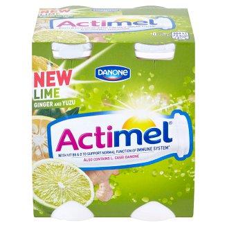 Danone Actimel Yoghurt Milk with Lime and Yuzu 4 x 100g