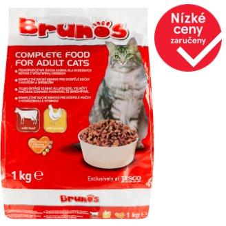 Brunos Kompletní krmivo pro dospělé kočky s hovězím a drůbežím 1kg