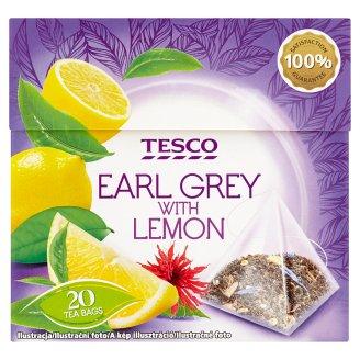 Tesco Earl Grey černý čaj s příchutí citronu 20 x 1,8g